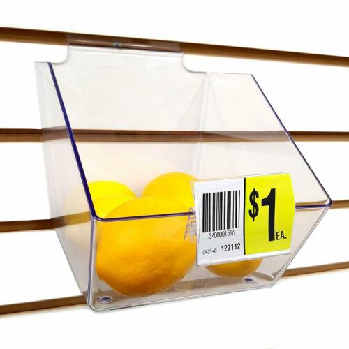 """Acrylic Bin Label Holder with 2/"""" x 1.5/"""" Sign Card Ticket Protecting Slot"""