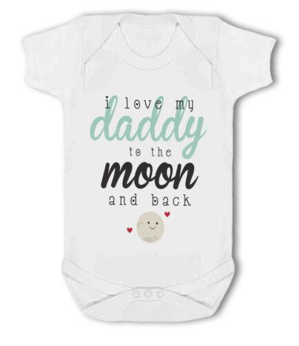 J/'aime mon papa à la lune et retour mignon bébé-gilet
