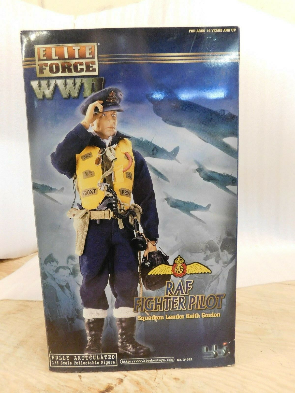 bluee Box Elite Force RAF Keith Gordon 1 6 12  Action Figure Fighter Pilot WW2