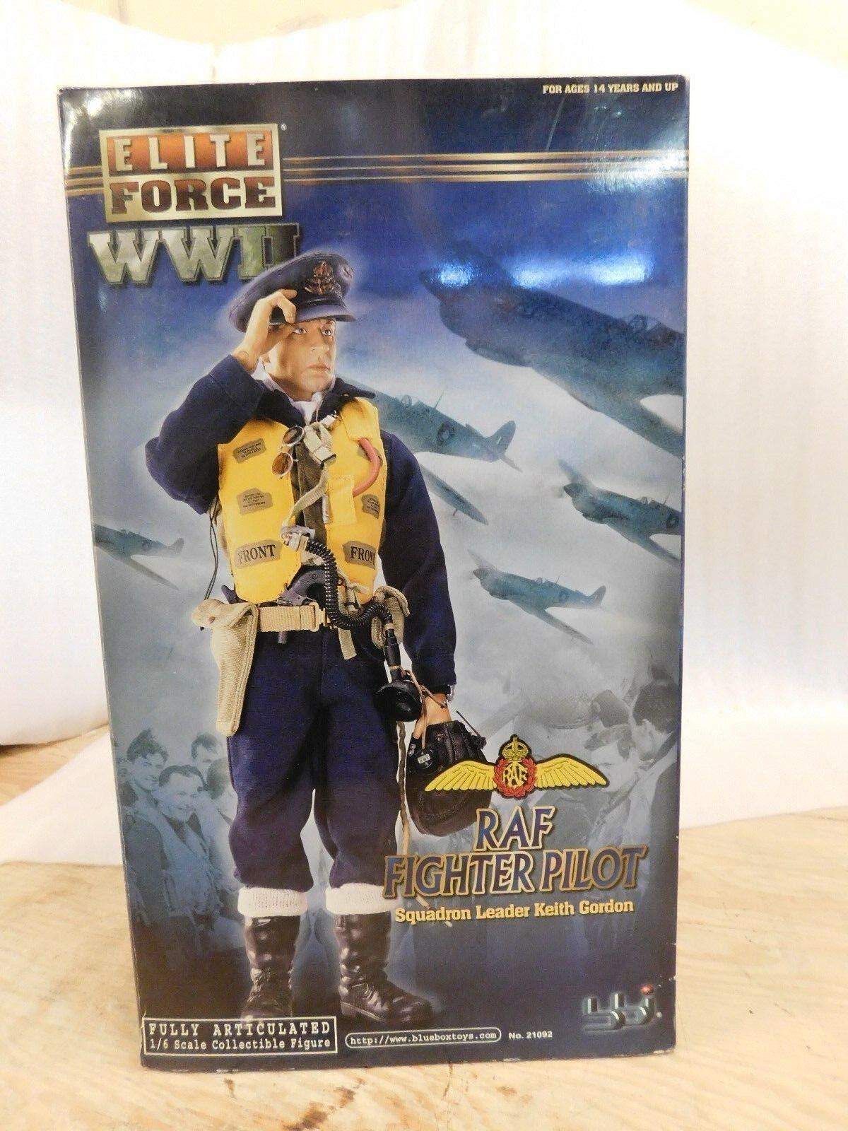 Blau Box Elite Force RAF Keith Gordon 1 6 12  Action Figure Fighter Pilot WW2