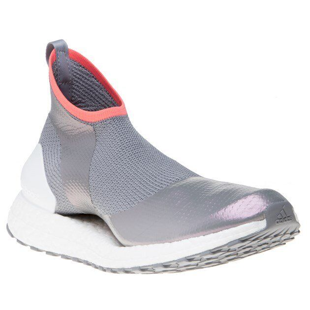New Damenschuhe Stella McCartney Grau Metallic Pureboost X Textile Trainers Running