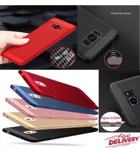 Ultra-Mince-Slim-Hard-Case-de-Protection-Complet-Housse-pour-Samsung-Galaxy-S7-S8-S9-avec
