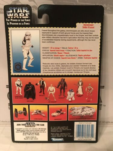 Star Wars Le pouvoir de la force Stormtrooper French French Card Square
