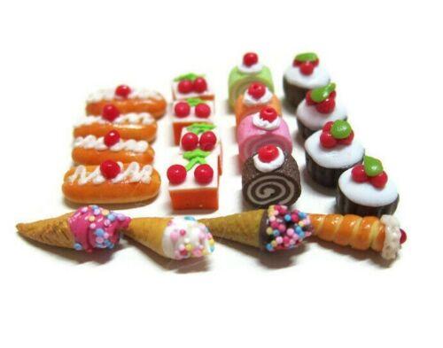 20 Loose Mix Bakery Dollhouse Miniatures Food Bakery Supply Deco