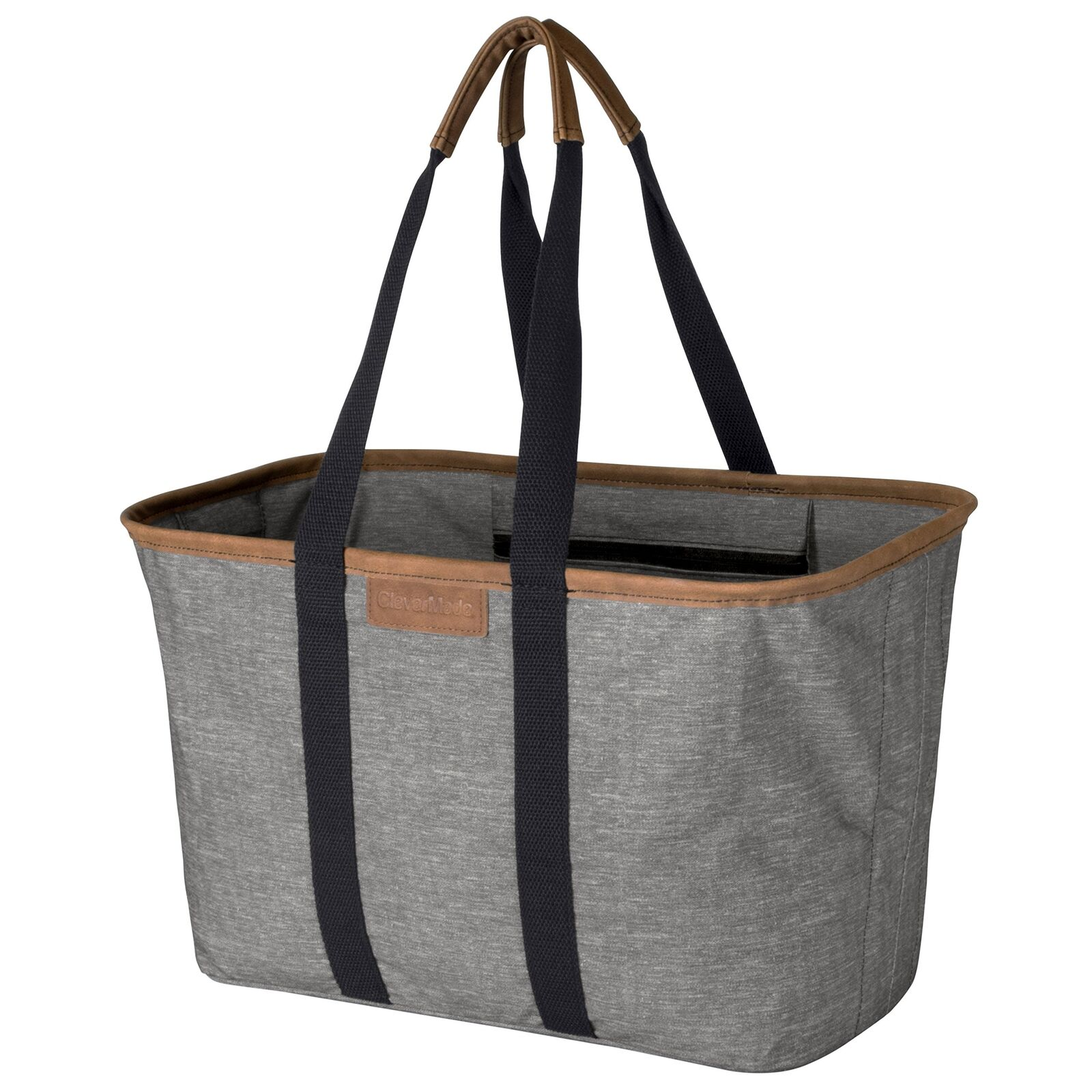 CleverMade 30L SnapBasket LUXE - Reusable Collapsible Durable Grocery Shopping