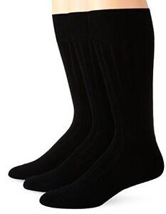 Calvin Klein Mens Socks 3 Pack Cotton Rich Dress Rib Socks- Pick SZ/Color.