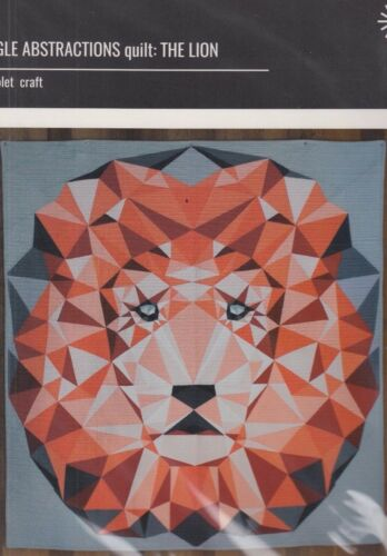 foundation paper pieced quilt PATTERN Violet Craft Jungle Abstractions Lion