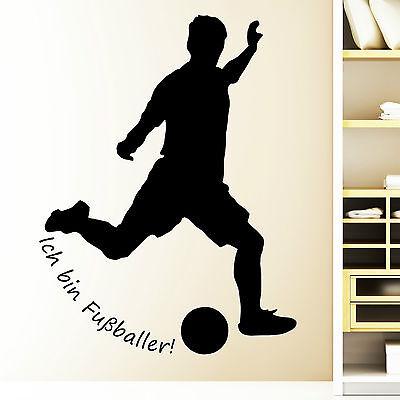 Wandtattoo Fußball ab 22,90 € Fußballspieler Fußballer Spieler Kinderzimmer10061