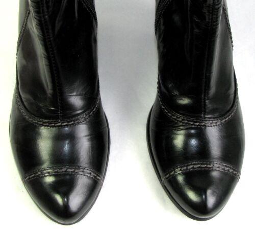 Freddo Tacchi Buono Stivali 7 Cm 37 Nero Molto Originali Bocage 5 Pelle qTg0x5