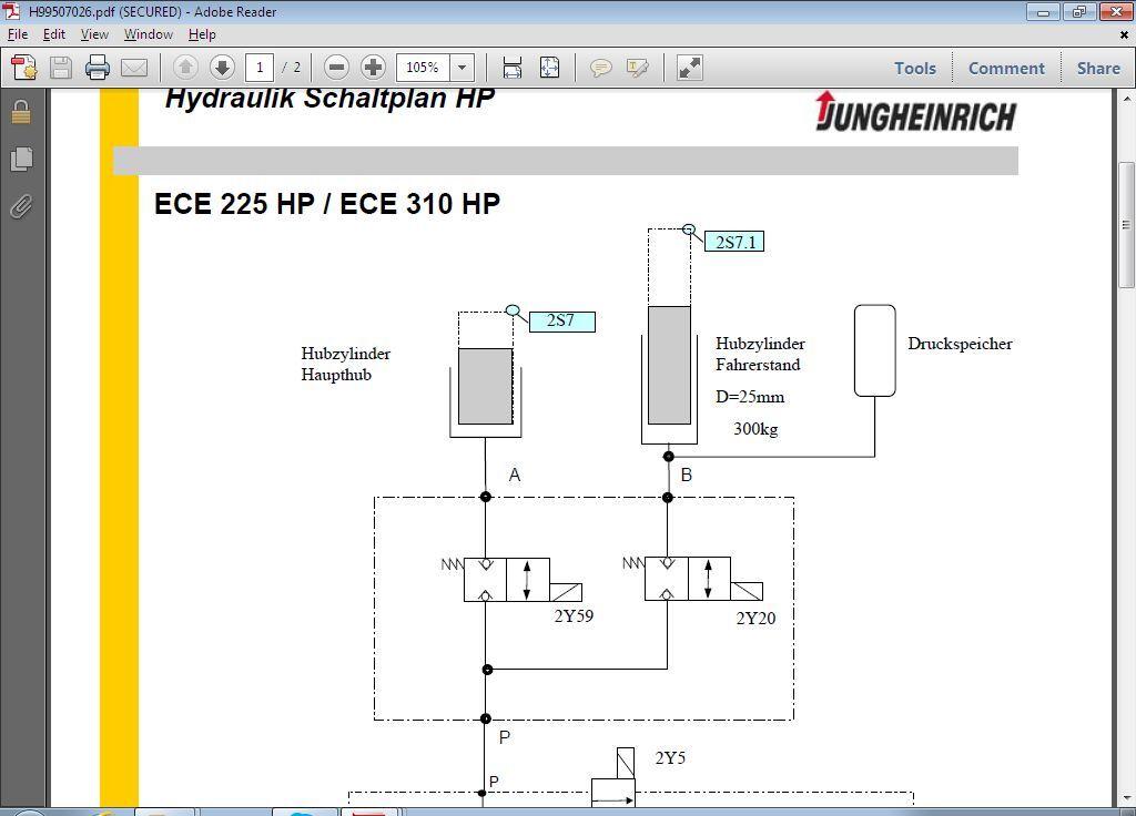 Druckspeicher Hydraulik Schaltplan