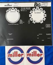 Miller Electric Arc Welders Big 20 3 Piece Decalwrap Control Plate Amp Decals