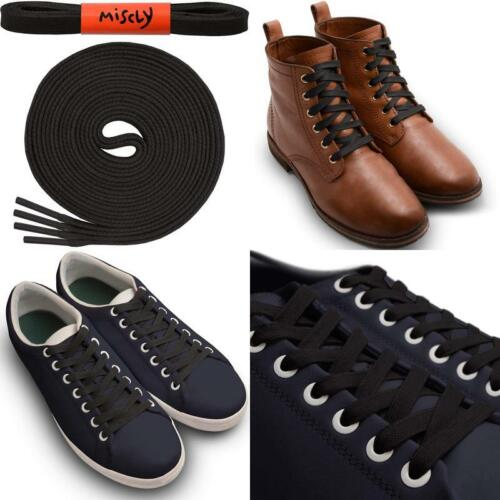 """1//4/"""" Wide 1 Pair Miscly Flat Waxed Cotton Boot Laces Shoelaces"""