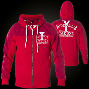 Men's Clothing Supply Yakuza Hoody Hide And Seek Hzb-8036 Ribbon Red/cardinal Rot Jacken Herren Finely Processed
