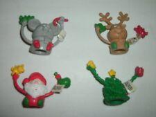 Set of 4 Russ Berrie® Jolly Jigglers Christmas Finger Puppets STOCKING STUFFERS!