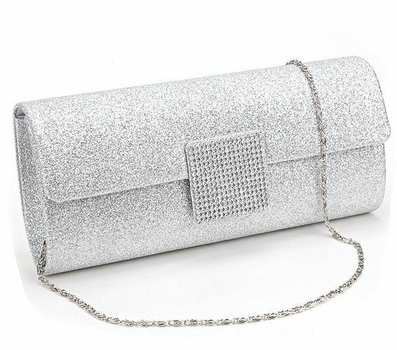 Women Ladies Evening Clutch Bag Rhinestone Party Ball Prom Wedding Handbag Purse