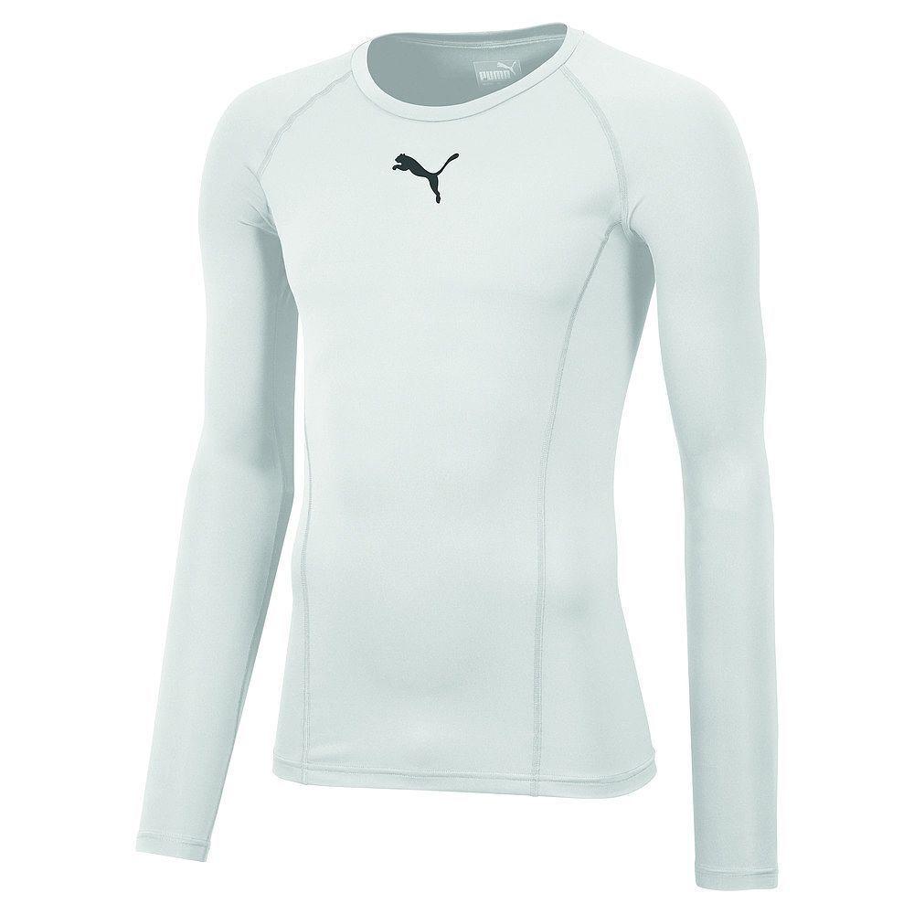 Puma Mens Sports Football Soccer LIGA Base Layer Long Sleeve Tee Shirt Top White