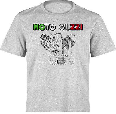 2019 Neuer Stil T-shirt Moto Guzzi Tricolore - Moto Spezial S Bis 3xl - Siebdruck Waschecht