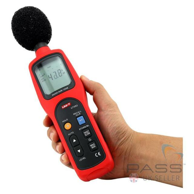 *NEW* Genuine UK UNI-T UT352 Type 2 Sound Level Meter - up to 130dB, 8,000 He...