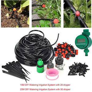 Automatic Water Irrigation Controller System Plant Self Watering Garden Hose Kit