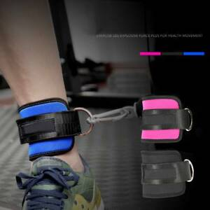 D-Ring-Ankle-Strap-Leg-Thigh-Pulley-Weight-Lifting-Exercise-Gym-Cable-Attachment