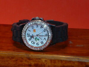 Pre-Owned-Women-s-Geneva-6386-Snowman-Rhinestone-Fashion-Watch