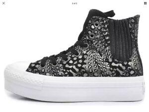 Black Chelsee metallic 5 Converse 544991c Ct size Bnib 001 Uk Hi aH1OqFw