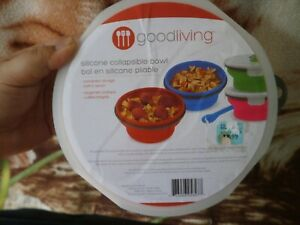 CLOSEOUT-SALE-Imported-From-USA-Goodliving-Silicone-Collapsible-Bowl-w-Spoon