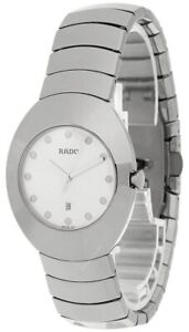RADO Ovation 35.5MM Quartz Silver Dial Ceramic Men's Watch R26493112
