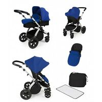 Ickle Bubba Stomp V2 All In One Travel System - Blue/silver -