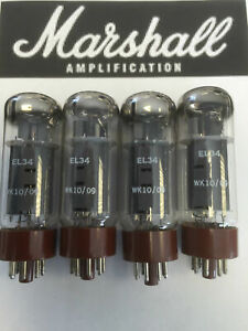 EL34-MARSHALL-ORIGINAL-SPARE-VALVE-TUBE-MATCHED-QUAD-4PCS