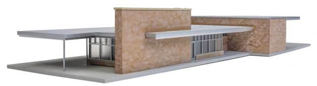 Spur H0 Bausatz Bahnhof Santa Fe 4064 NEU