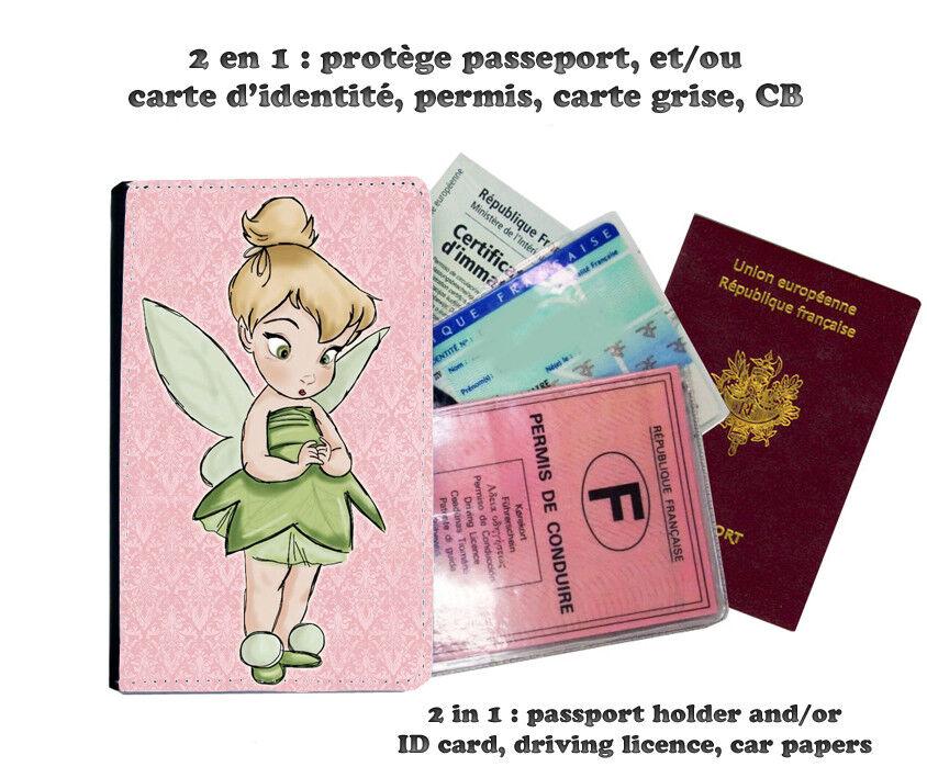 tinkerbell fée fée fée clochette 203 protège carte grise permis passeport passport cover c0668f