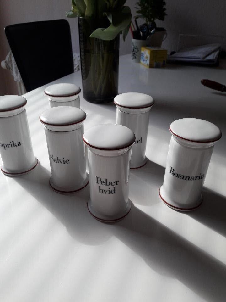 Porcelæn, Krydderikrukker, B & G - Kongelige
