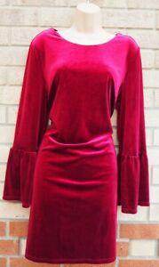 G21-Terciopelo-Borgona-FLARE-cambio-de-manga-larga-vestido-cenido-al-cuerpo-de-fiesta-elegante-14-L