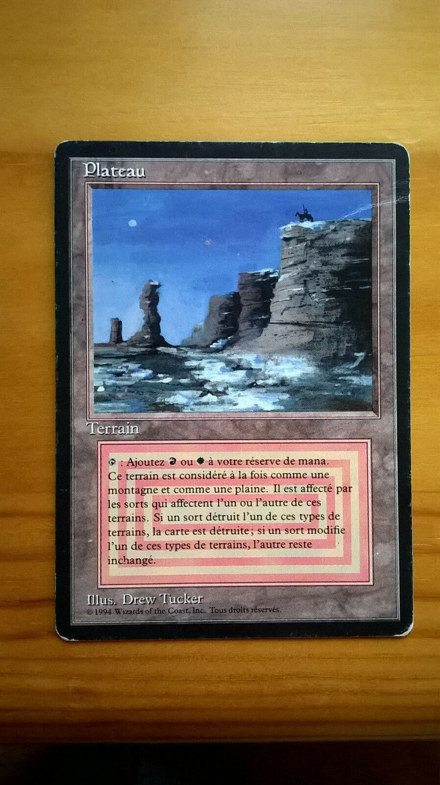 MTG FBB Plateau French MP (with a crease, see pics)