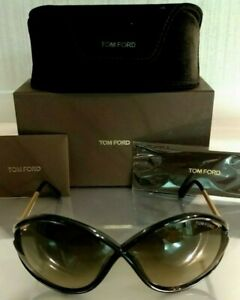 ff7ec70a06bf1 Authentic Tom Ford Liora TF528 528 Sunglasses Black   Gold 01B 70 5 ...