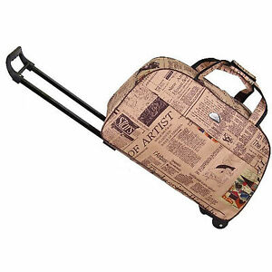 14-034-Rolling-Wheeled-Duffle-Trolley-Bag-Tote-Carry-On-Travel-Suitcase-Luggage