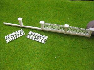 LG20006 1 Meter 1:200 N Z Gauge Model Railway Building Fence Wall White