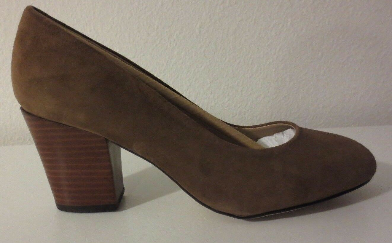 New Isola damen's Emmalee Block Heels Pumps Light Light Light braun Suede (Größe 8.5) 4b6d61