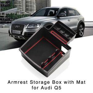 Auto-Armlehne-Aufbewahrungsbox-fuer-Audi-Q5-2009-2017-Mittelkonsole-Handschuhfach
