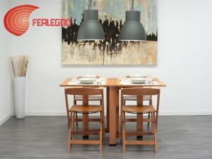 TABLE-RECTANGULAR-FOLDING-6-PEOPLE-WOOD-WALNUT-DESCARTES-MOD-FOPPAPEDRETTI
