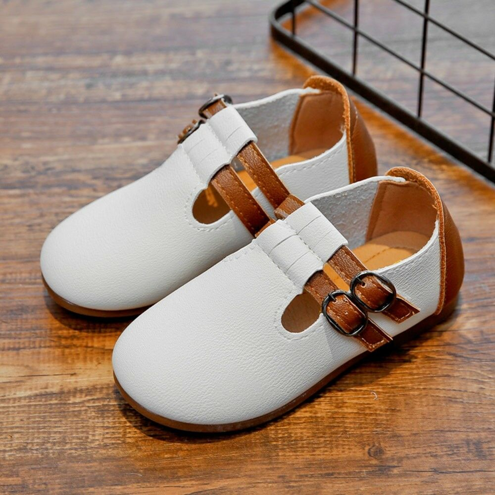 Toddler Baby Girl Shoes kids Mary Jane Flats Dress Casual Leather US SIZE 7-12.5