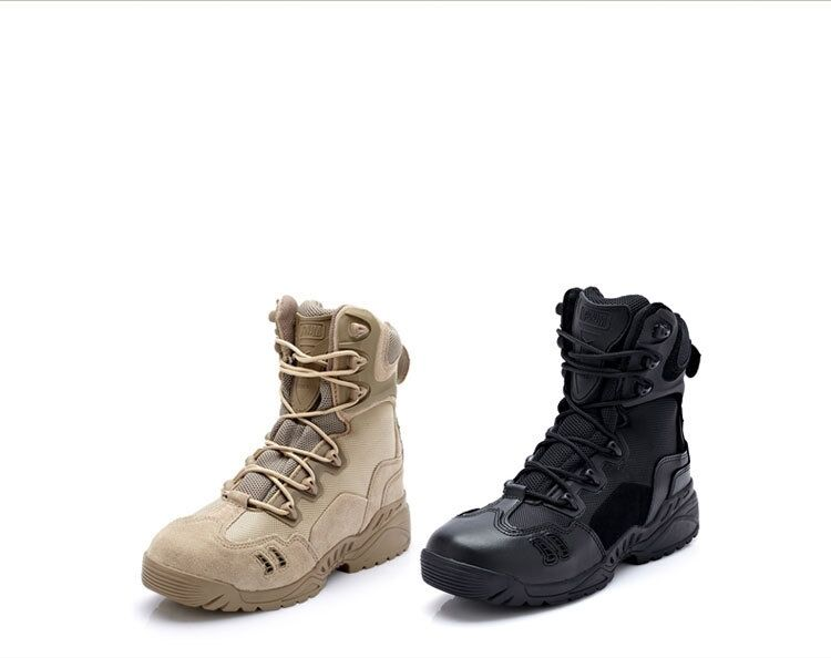 Tactical Outdoor Desert Boots  Military Hunting Combat BOOTS HIKING ZIPPER shoes  save on clearance