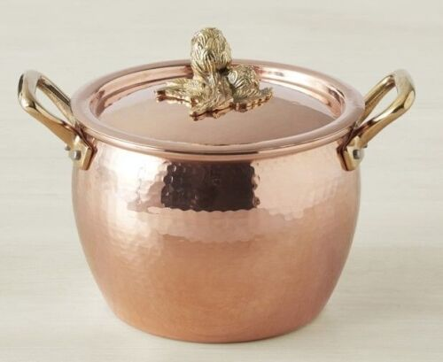 Ruffoni Copper Artichoke Finial Stock Pots 3 1//2 Quart 3.5 Italy NIB