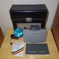 Vintage Polaroid 104 Land Camera - Automatic Gray - w/ Flash Black Case - Works