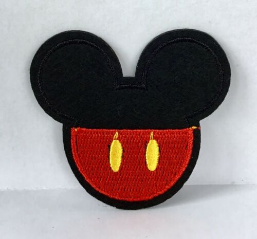 DISNEY MICKEY MOUSE EARS RED EMBROIDERED APPLIQUÉ PATCH SEW OR IRON ON #465