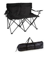 Loveseat Style Double Camp Chair With Steel Frame By Trademark Innovations