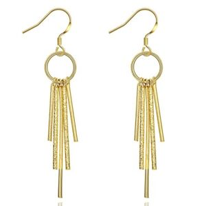 Earrings-with-Fine-Chain-Dangles-in-10K-Yellow-Gold-Plated