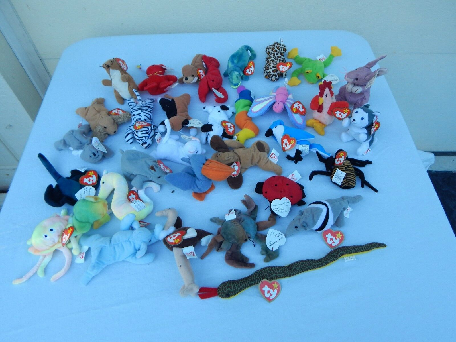 Lot of 33 Beanie Babies with Swing Tags Retired