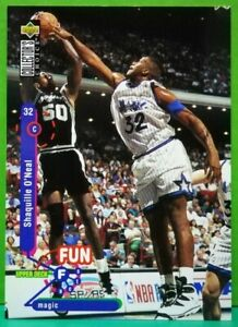 Shaquille-O-039-Neal-card-Fun-Facts-1995-96-Upper-Deck-Collector-039-s-Choice-184